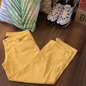 VTG 80s/90s Bright Yellow Jeans